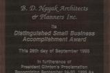 Distinguished Small Business Accomplishment Award